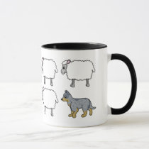 Australian Cattle Dog Herding Sheep Mug