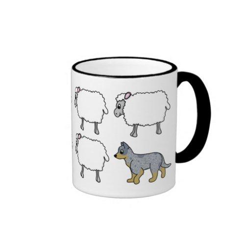Australian Cattle Dog Herding Sheep Mug