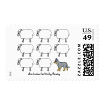 Australian Cattle Dog Herding Sheep Postage Stamps