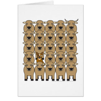 Australian Cattle Dog in the Herd Card