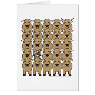Australian Cattle Dog in the Herd Card