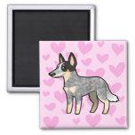 Australian Cattle Dog / Kelpie Love 2 Inch Square Magnet
