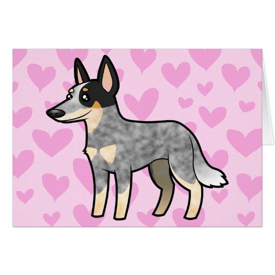 Australian Cattle Dog / Kelpie Love Card