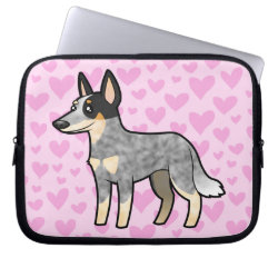 Neoprene Laptop Sleeve 10 inch with Australian Cattle Dog Phone Cases design