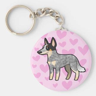 Australian Cattle Dog / Kelpie Love Keychain