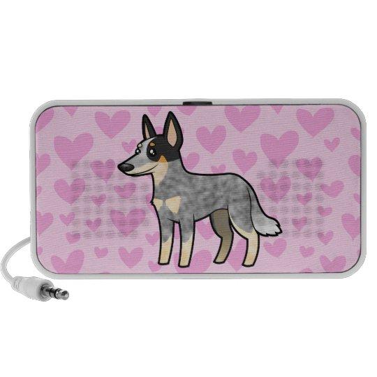 Australian Cattle Dog / Kelpie Love Portable Speaker
