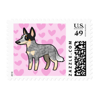 Australian Cattle Dog / Kelpie Love Postage Stamp