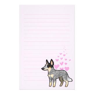 Australian Cattle Dog Kelpie Love Stationery Design
