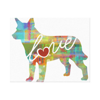 Australian Cattle Dog Love Canvas Print