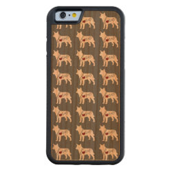 Carved ® iPhone 6 Bumper Wood Case with Australian Cattle Dog Phone Cases design