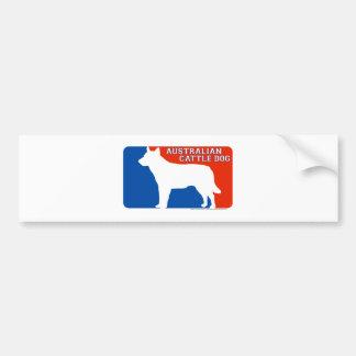 Australian Cattle Dog Major League Dog Bumper Stic Car Bumper Sticker