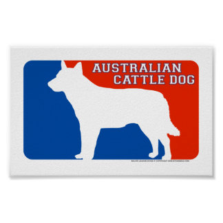 Australian Cattle Dog Major League Dog Print