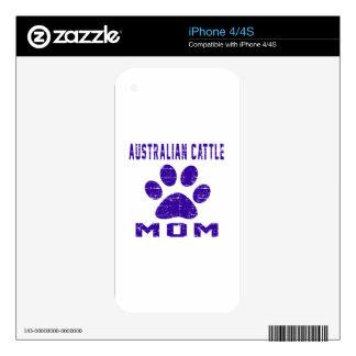 Australian Cattle Dog Mom Gifts Designs iPhone 4 Skin