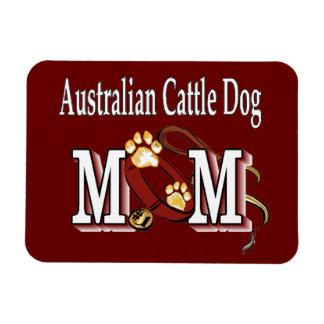 australian cattle dog mom rectangular photo magnet
