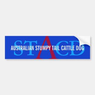 Australian Cattle Dog Monogram Car Bumper Sticker