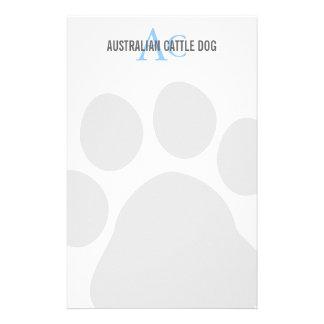 Australian Cattle Dog Monogram Stationery