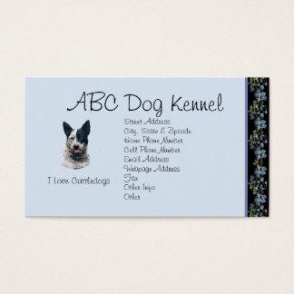 Australian Cattle Dog on Black Bluebells Business Card