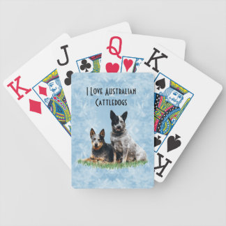 Australian Cattle dog on Blue Crystal Home Decor Bicycle Playing Cards
