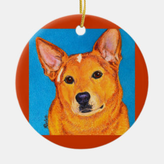 "Australian Cattle Dog Ornament - ""Red"""