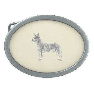 Australian Cattle Dog Oval Belt Buckle