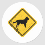 Australian Cattle Dog Round Sticker