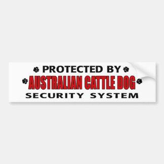 Australian Cattle Dog Security Car Bumper Sticker