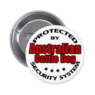 Australian Cattle Dog Security Pinback Button