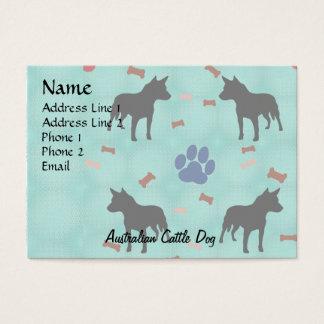 Australian Cattle Dog Shadow Business Card