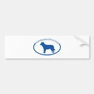 Australian Cattle Dog Silhouette Bumper Sticker Car Bumper Sticker