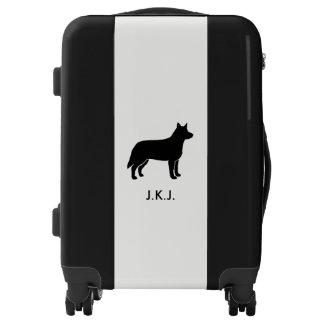 Australian Cattle Dog Silhouette Luggage