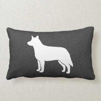 Australian Cattle Dog Silhouette Pillow