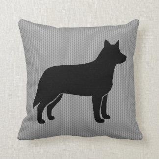 Australian Cattle Dog Silhouette Throw Pillow