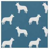 Australian Cattle Dog Silhouettes Pattern Fabric