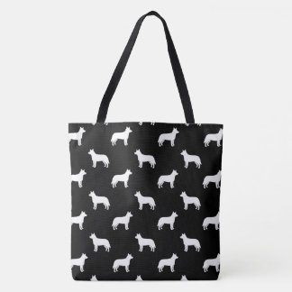 Australian Cattle Dog Silhouettes Pattern Tote Bag