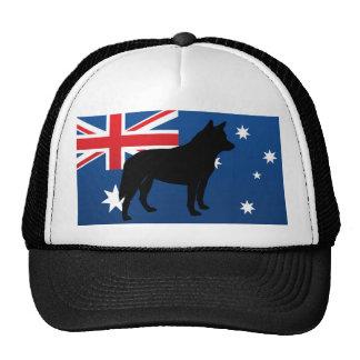 australian cattle dog silo australia flag.png hat