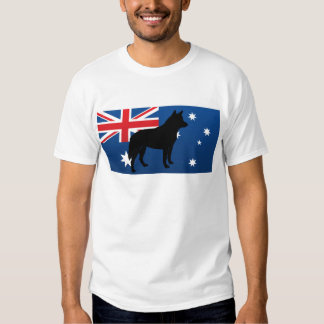 australian cattle dog silo australia flag t-shirt