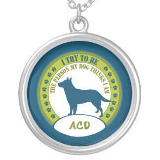 Australian Cattle Dog Silver Plated Necklace
