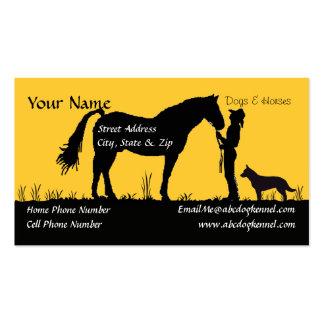 Australian Cattle Dog Sunset Silhouette Business Card