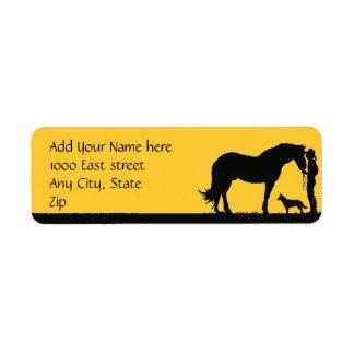 Australian Cattle Dog Sunset Silhouette Label