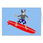 Australian Cattle Dog Surfer Card
