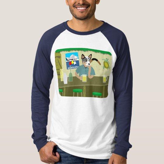 Australian Cattle Dog Tiki Bar T-Shirt