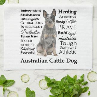 Australian Cattle Dog Traits Kitchen Towel