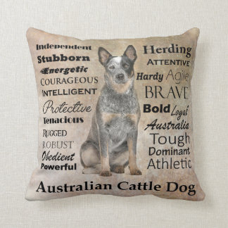 Australian Cattle Dog Traits Pillow