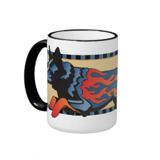 Australian Cattle Dog - Unsafe at any Speed Ringer Coffee Mug