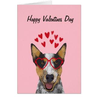 Australian Cattle Dog Valentines Card