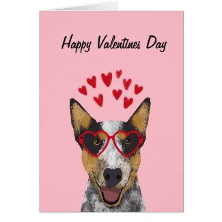 Australian Cattle Dog valentines card