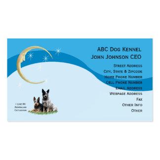 Australian Cattle Dog w/Gold Moon & Stars Profile Business Card