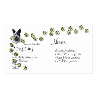 Australian Cattle Dog w/Gold Pawprints Business Card