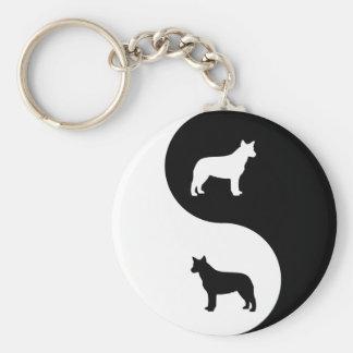 Australian Cattle Dog Yin Yang Keychain