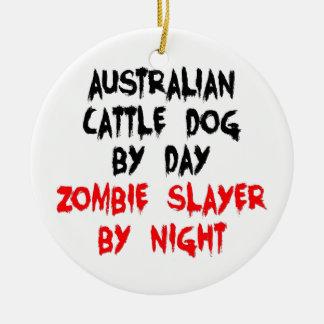 Australian Cattle Dog Zombie Slayer Double-Sided Ceramic Round Christmas Ornament